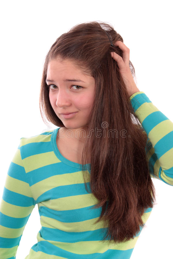 Download Girl the teenager. stock photo. Image of person, beautiful - 13145990
