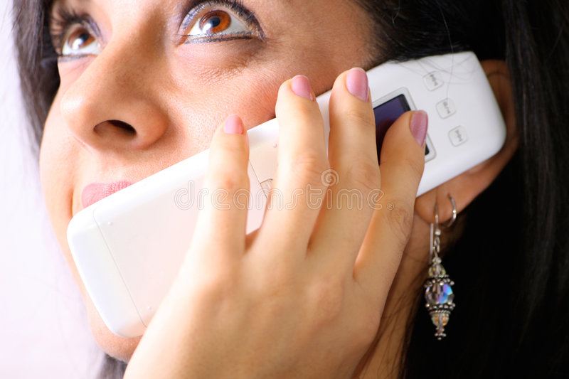 Girl On Telephone Royalty Free Stock Images