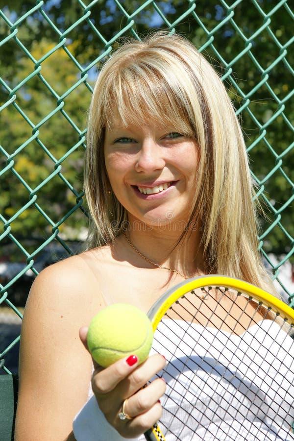 Girl tennis stock photos