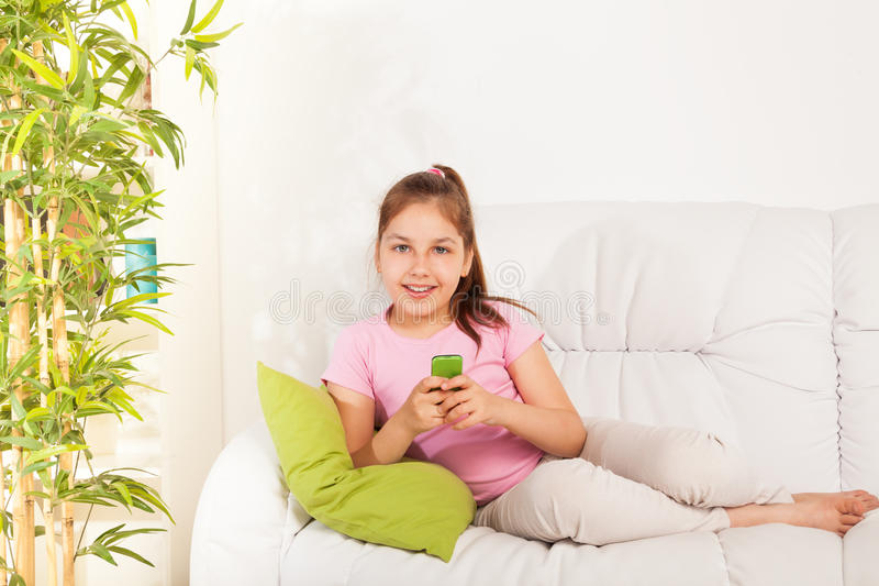Girl texting royalty free stock image