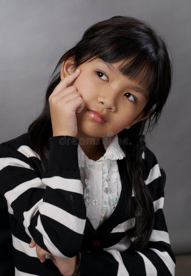 Download Girl thinking stock image. Image of female, thinking - 13871559