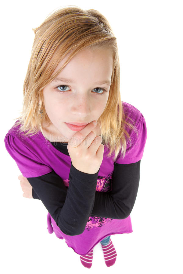 Girl is thinking royalty free stock photography