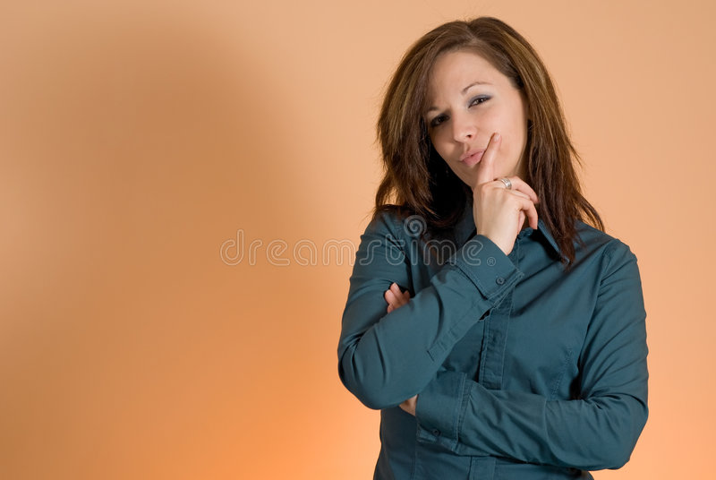 Download Girl thinking stock photo. Image of concept, friendly - 4518284