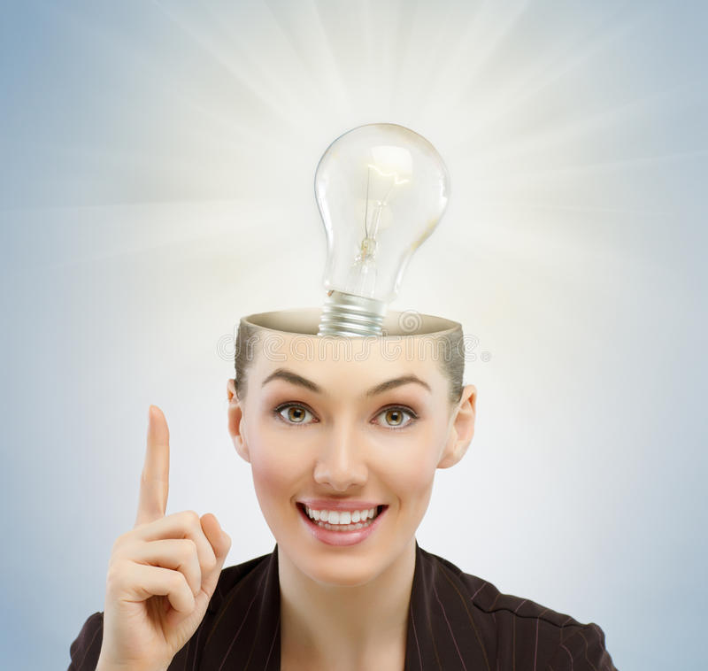 Download Girl thinks stock image. Image of ideas, human, brain - 27572133