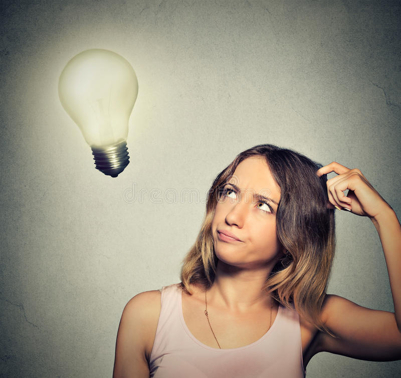Naked Lit Light Bulb Hanging