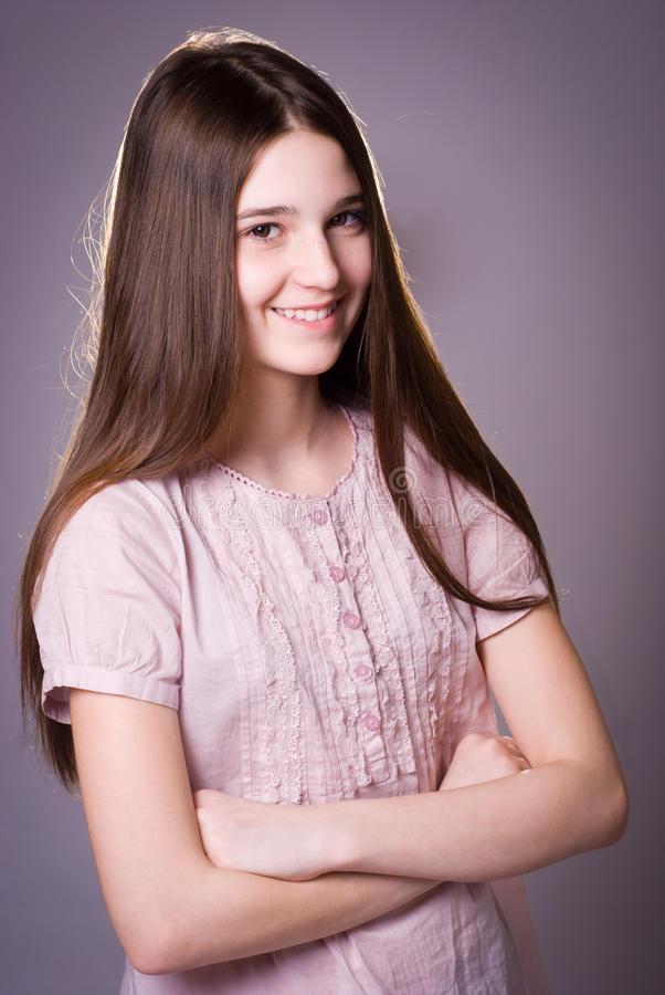 Download Girl of thirteen stock image. Image of child, attractive - 24083139