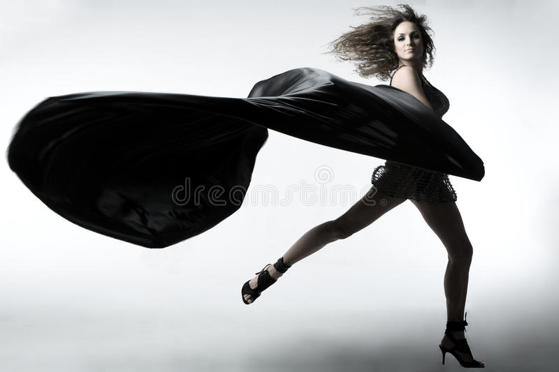 Girl with tissue royalty free stock photos