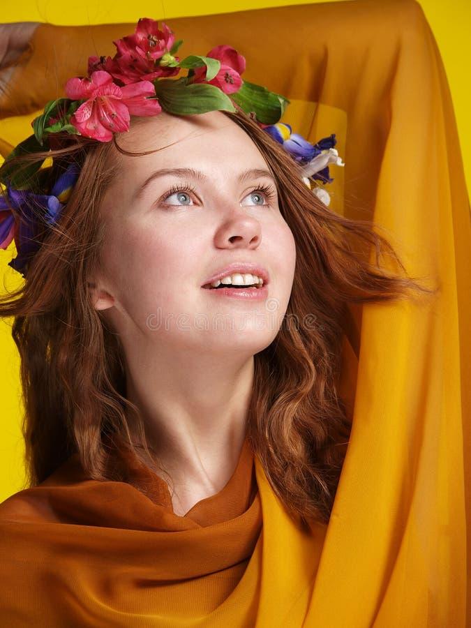 Girl In Tissue Stock Photo