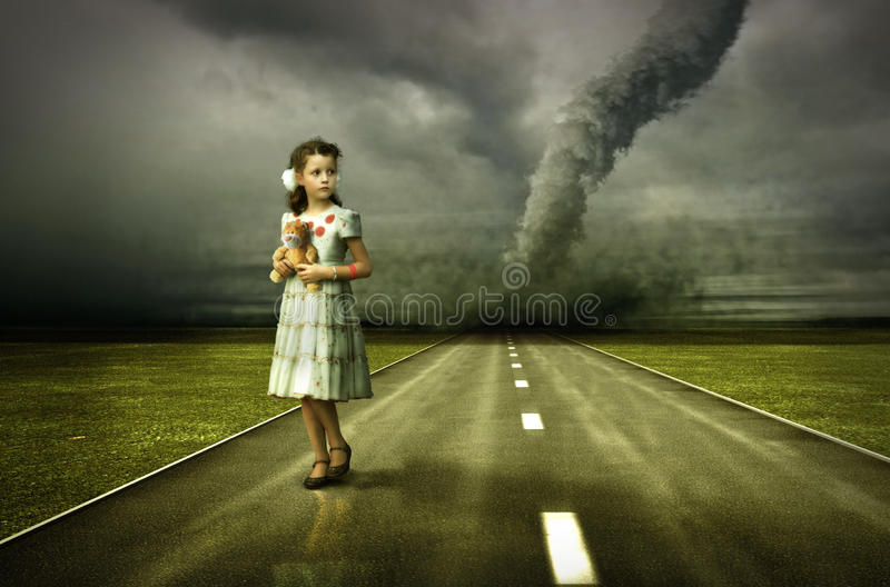 Download Girl tornado stock illustration. Image of clouds, tornado - 15558484