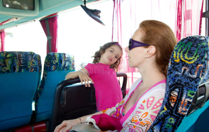 Download Girl On Tourist Bus Happy With Sunglasses Stock Photo - Image of people, casual: 21738722
