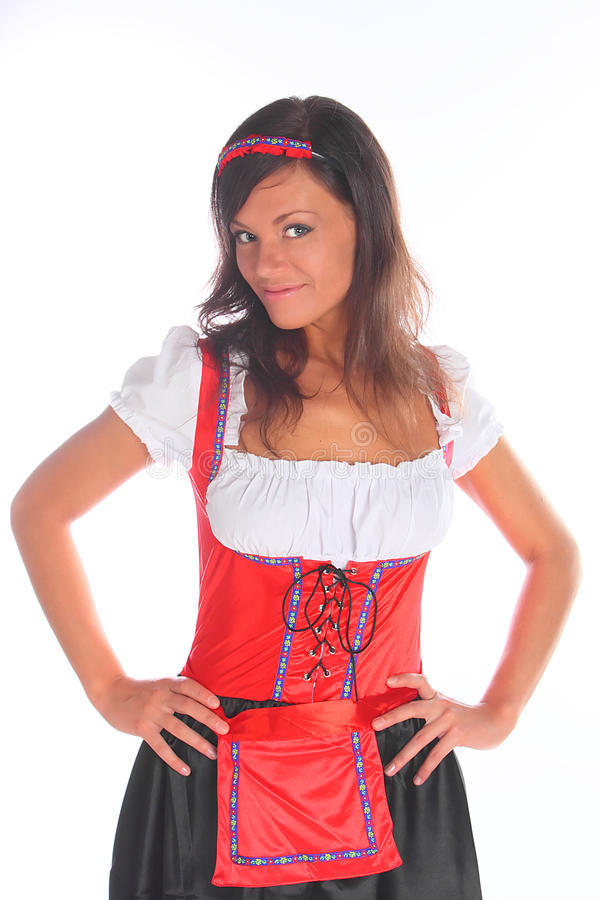 Download The Girl In A Traditional Bavarian Dress Stock Photo - Image: 21143598