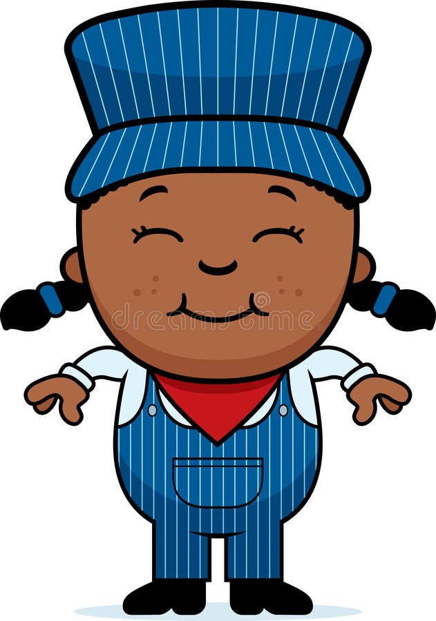 girl train conductor stock vector illustration of child 47527098 rh dreamstime com Train Conductor Animated Train Conductor Cartoon