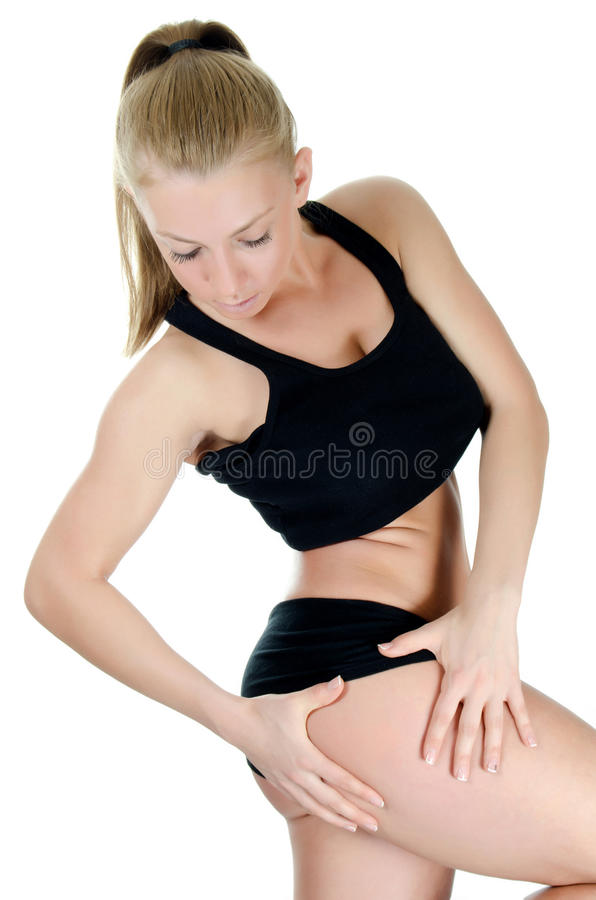 Download The Girl The Trainer On Dances Royalty Free Stock Photo - Image: 24183255