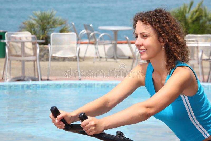 Download Girl On Training Apparatus Outdoor Stock Photo - Image: 11009094