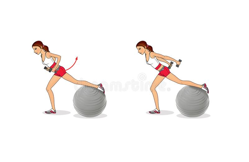 Girl Is Training At Home. Stretching The Muscles Of The ...