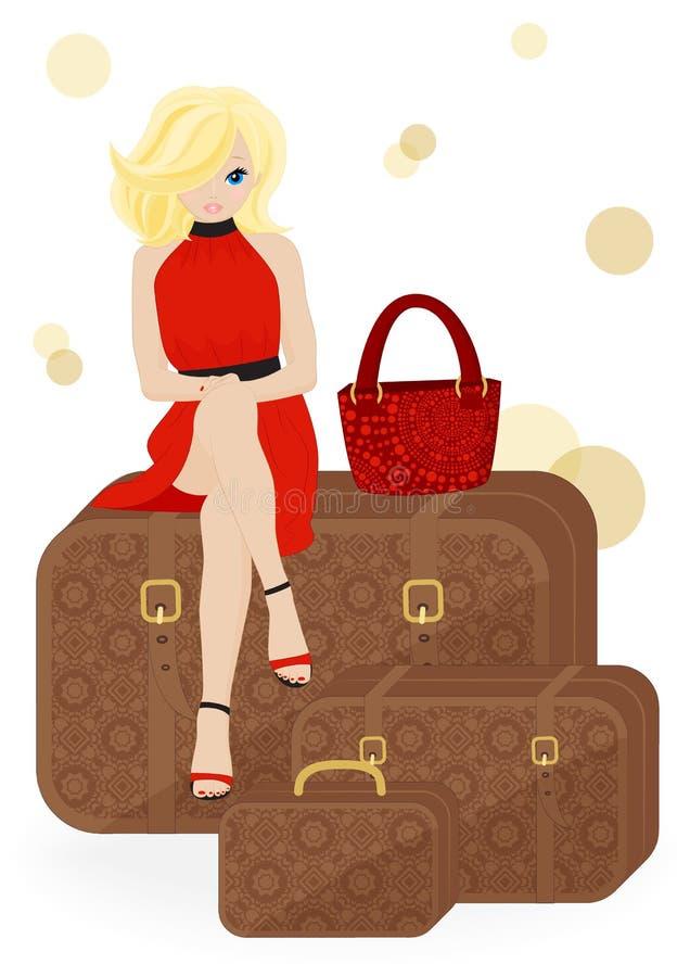 Download Girl Traveler stock vector. Illustration of vector, tourist - 31239773