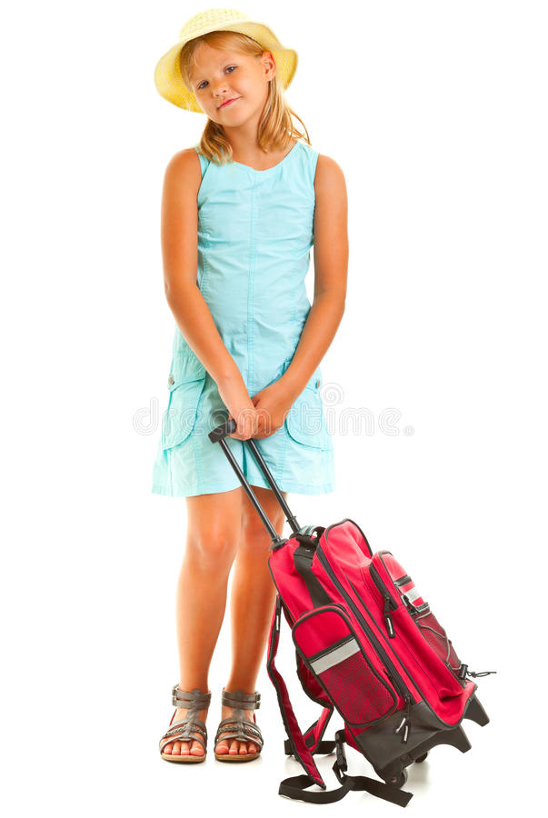 Download Girl travelling stock image. Image of holiday, little - 26731413