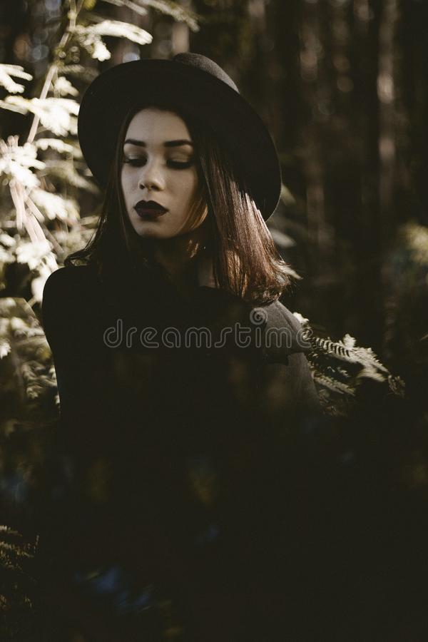 Girl, Tree, Darkness, Headgear Free Public Domain Cc0 Image