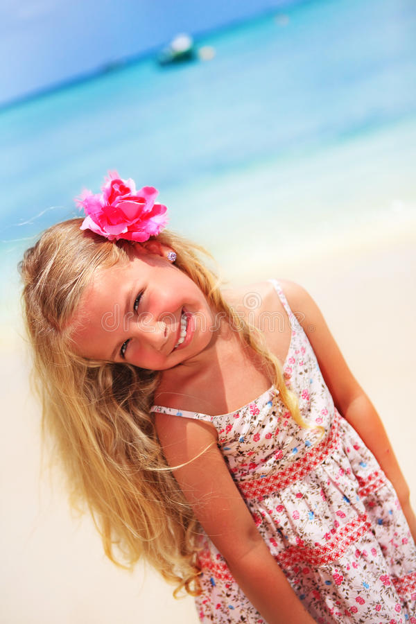 Download Girl At The Tropical Caribbean Beach Stock Image - Image: 20458379