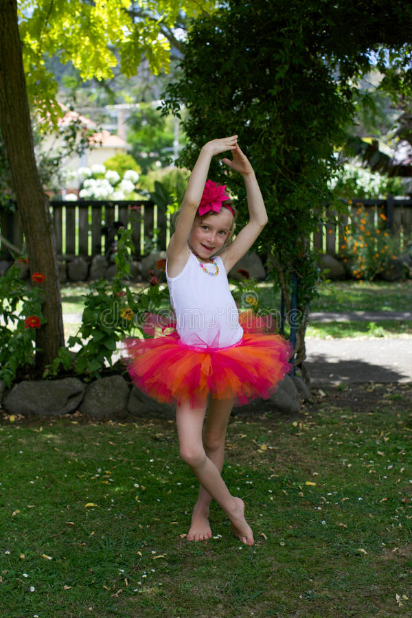 Girl in a tutu. royalty free stock images
