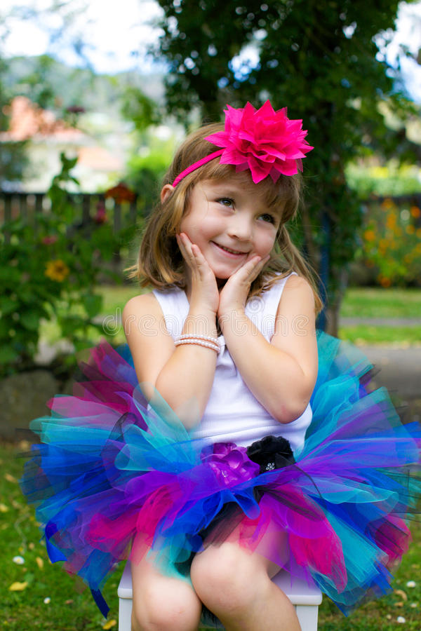 Girl in a tutu. stock photography