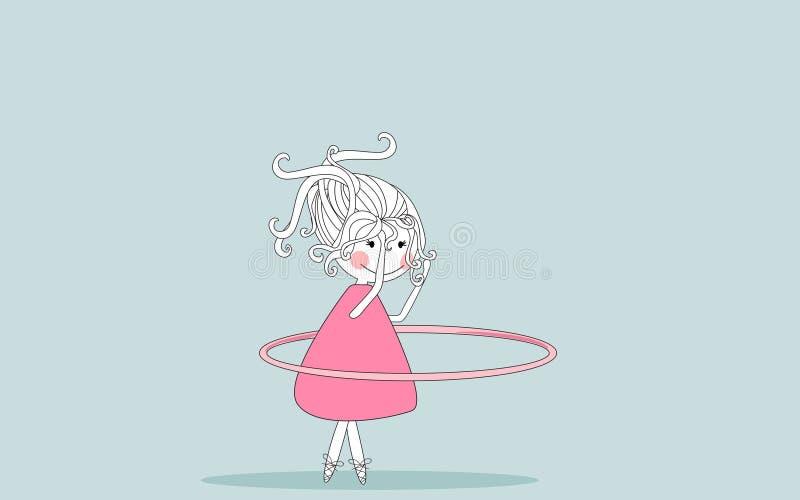 Girl Twirling Hula Hoop Royalty Free Stock Photography