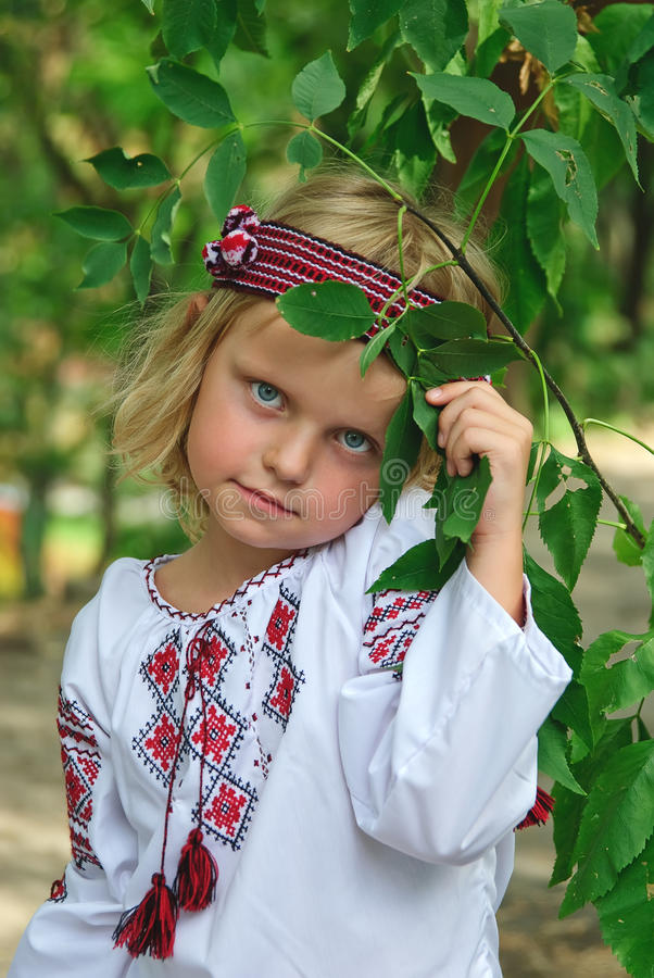 Download Girl in ukrainian costume stock image. Image of embroidered - 15954705