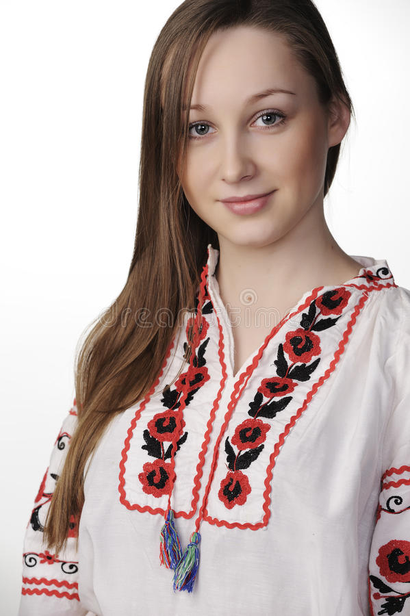 Download Girl In Ukrainian National Costume Stock Photo - Image: 23136340