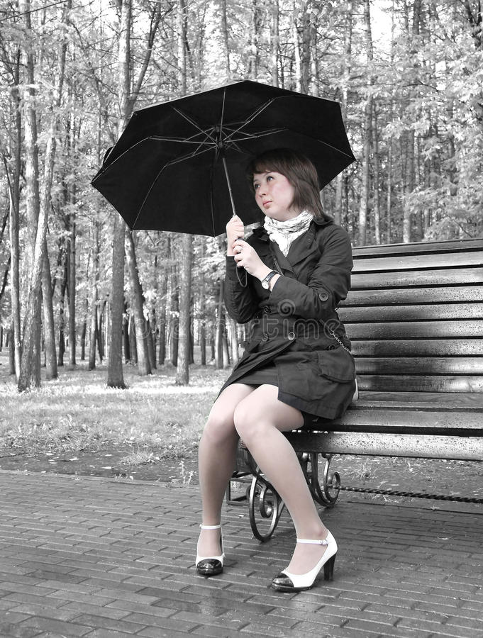 Download Girl With An Umbrella Royalty Free Stock Photos - Image: 21335888