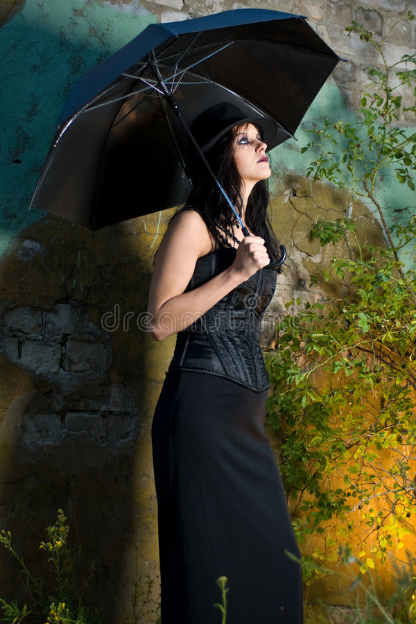 Download Girl with umbrella stock photo. Image of female, lean - 6354418