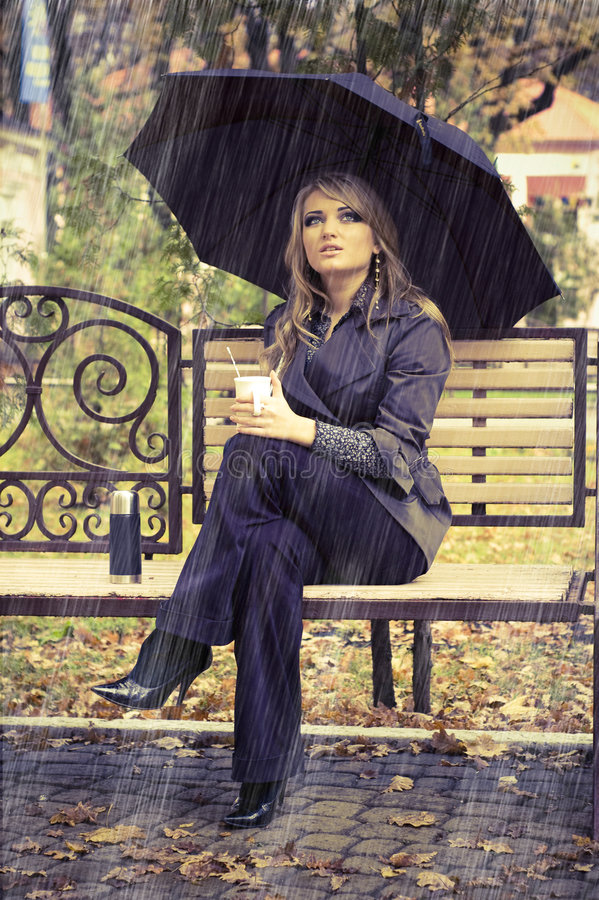Download Girl With Umbrella Stock Photography - Image: 8576272