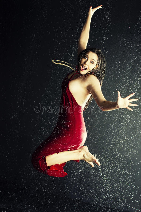 Download Girl under a rain stock image. Image of sensuality, lifestyle - 13056695