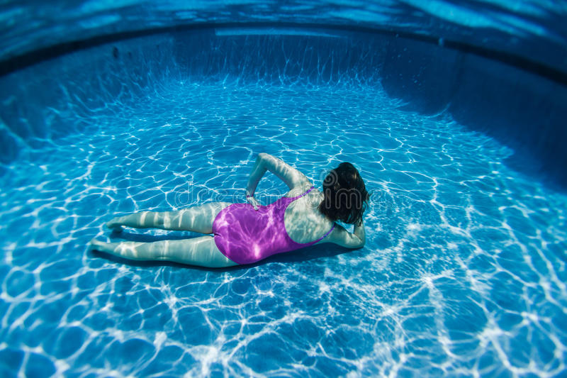 Download Girl Underwater Pose stock image. Image of girl, pose - 28205191