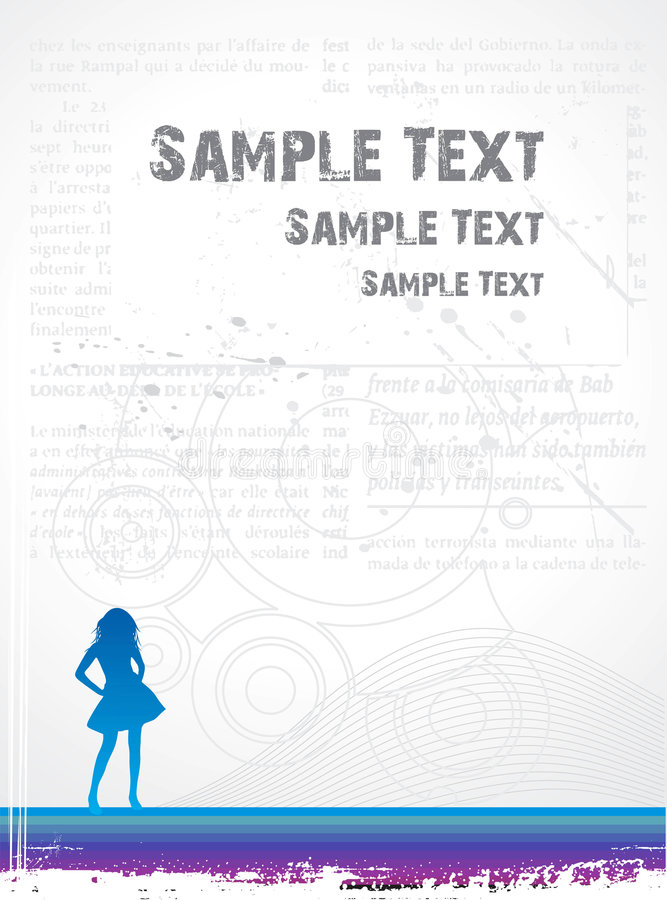 Girl urban background stock illustration