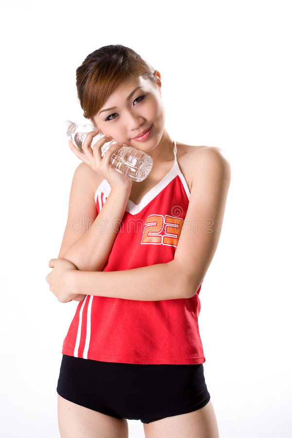 Download Girl Use Water Bottle Cool Aid Stock Photo - Image: 3392752