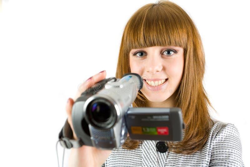 Download Girl using video camera stock image. Image of digital - 7946529
