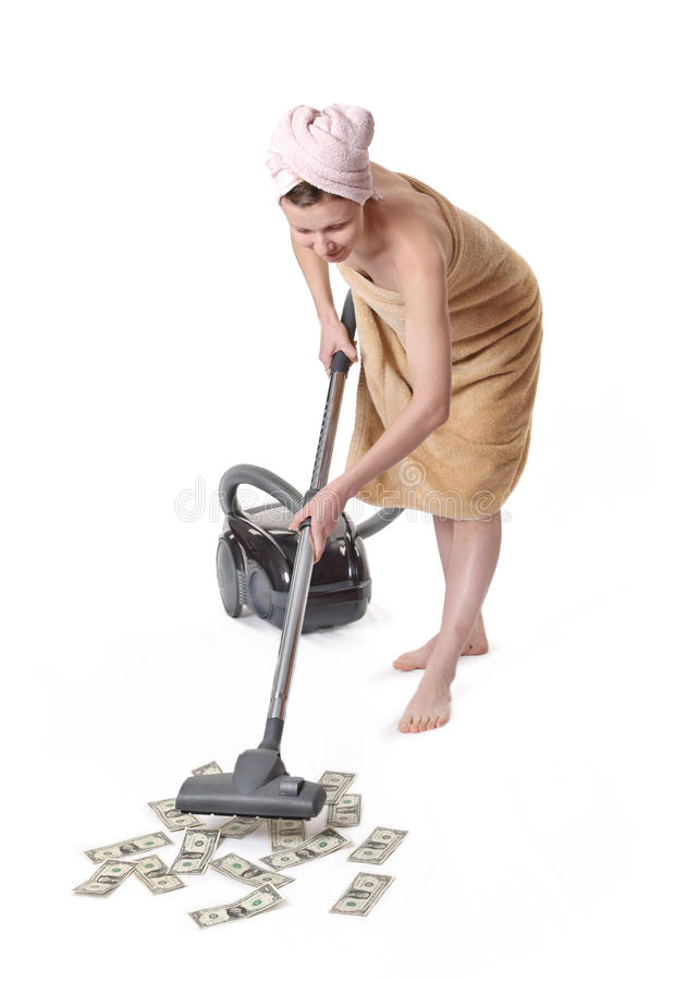 Download Girl with a vacuum cleaner stock photo. Image of girl - 12994260
