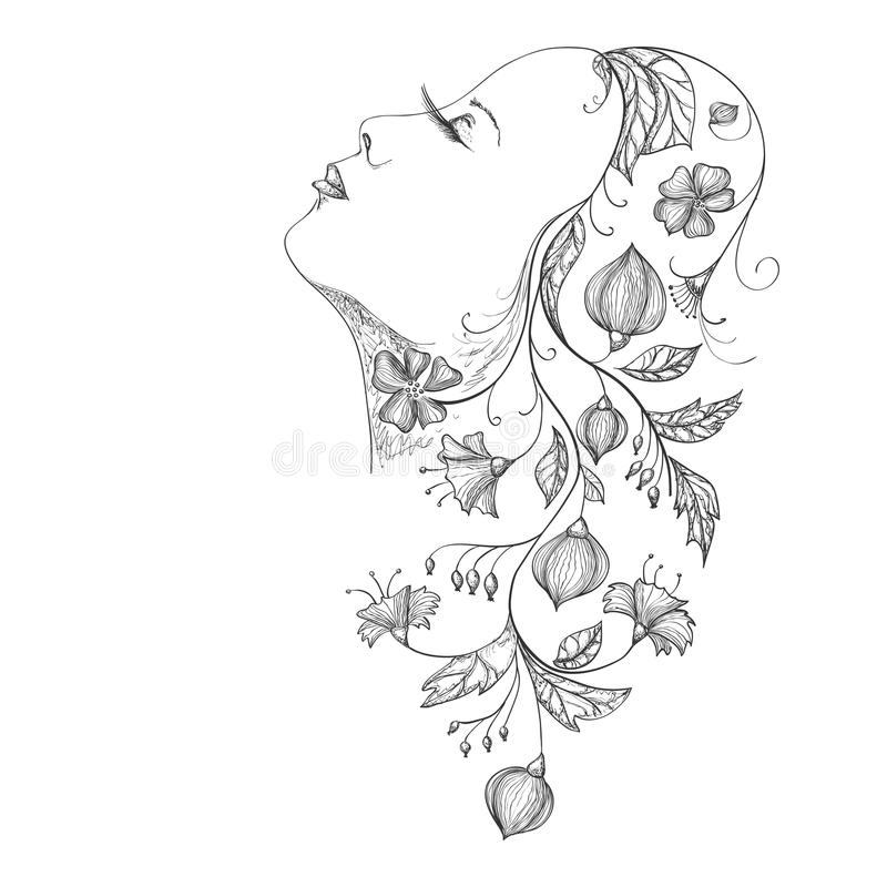 Download Girl stock vector. Image of person, vector, head, decoration - 41123598