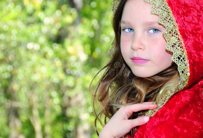 Girl In Velvet Cape Stock Images