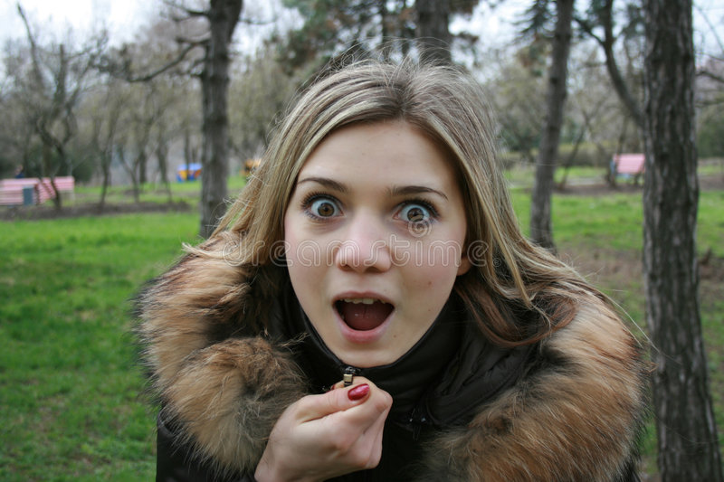 Download Girl is very amazed stock photo. Image of beautiful, funny - 4722320