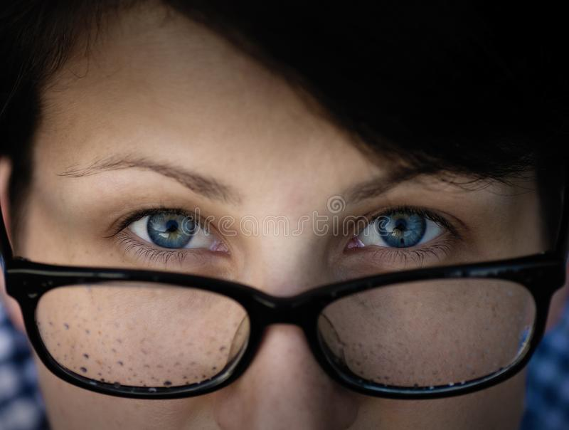 Woman with a glasses. stock photos