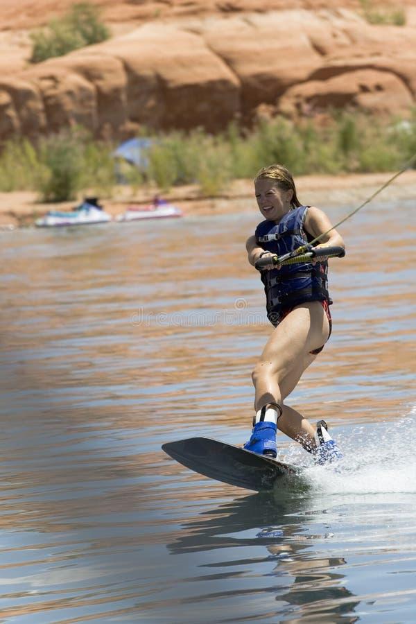 Free Girl Wakeboarding At Lake Powe Royalty Free Stock Images - 3309899