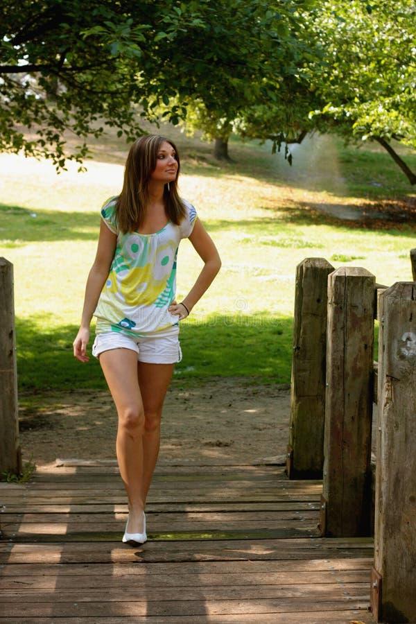 Girl Walking royalty free stock images