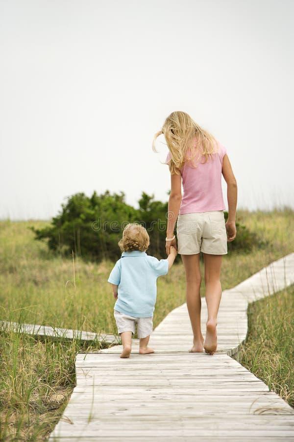 Download Girl walking on walkway stock photo. Image of vacation - 2046092