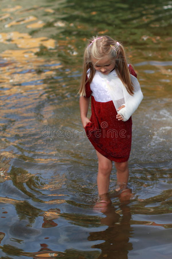 Download Girl Walking In A Water Royalty Free Stock Photos - Image: 20358788