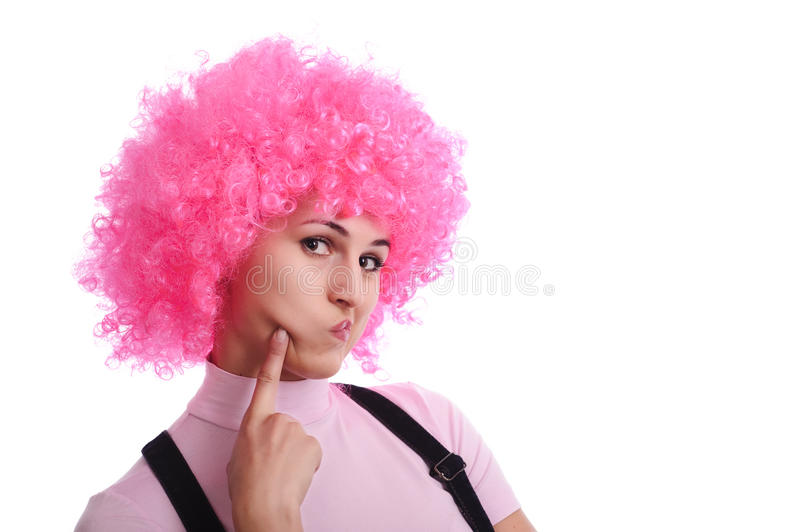 Girl want kiss royalty free stock photography