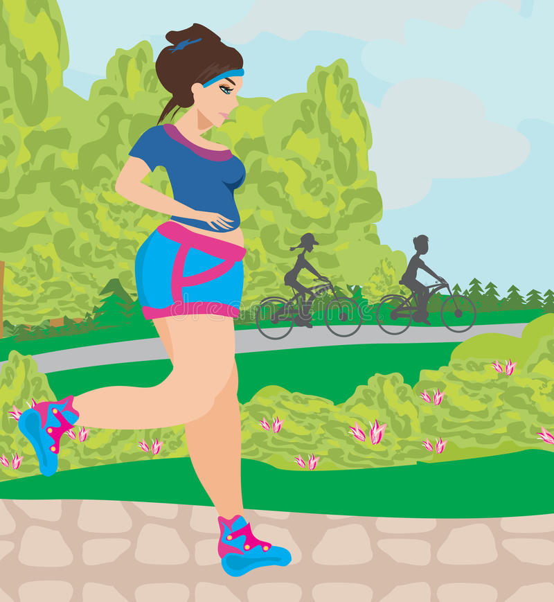 Girl wants to lose weight vector illustration