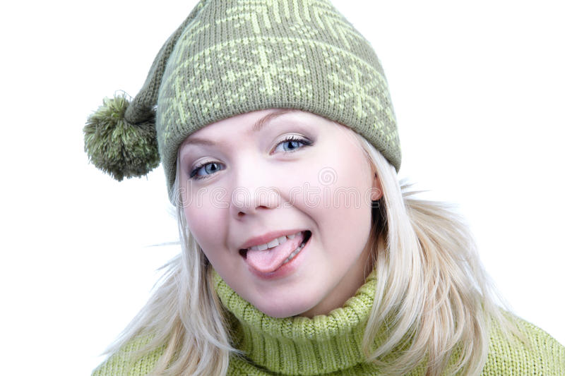 Download Girl in warm clothes stock image. Image of pompon, model - 10632213