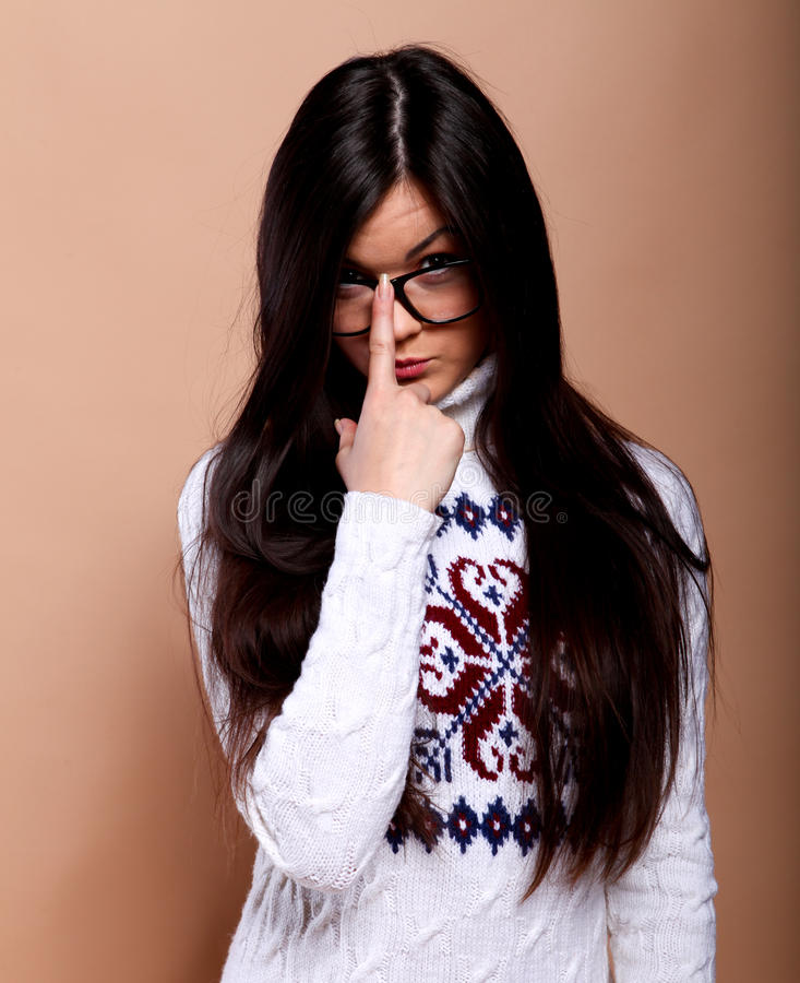 Download Girl In Warm Sweater Royalty Free Stock Photos - Image: 21949758