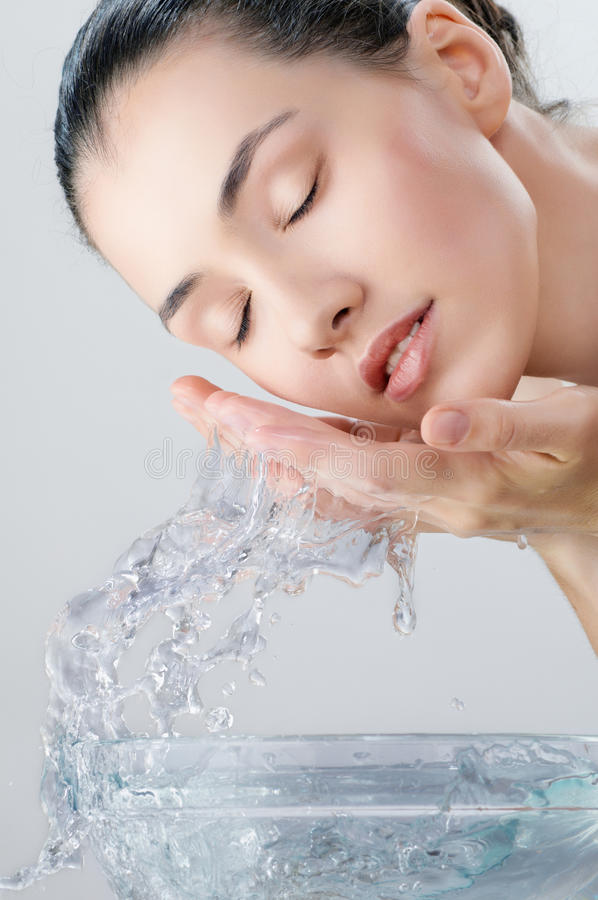 Download Girl is washing stock photo. Image of hygiene, portrait - 26706628